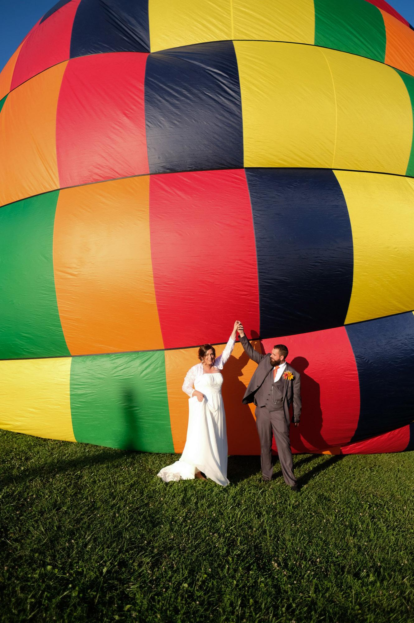 Shawn & Danielle Hot Air Balloon Wedding 28