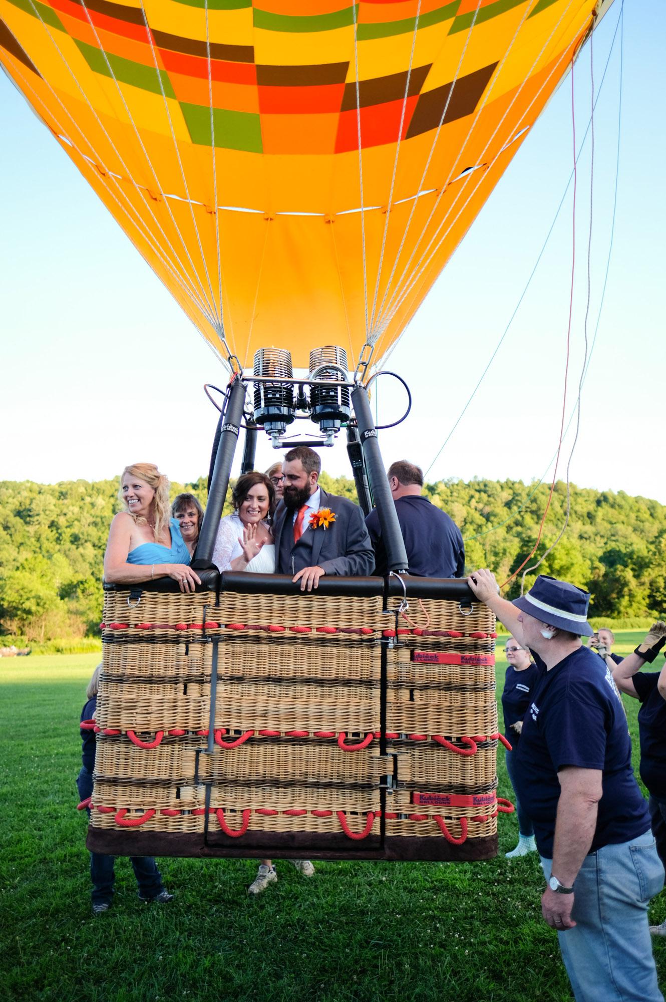 Shawn & Danielle Hot Air Balloon Wedding 34