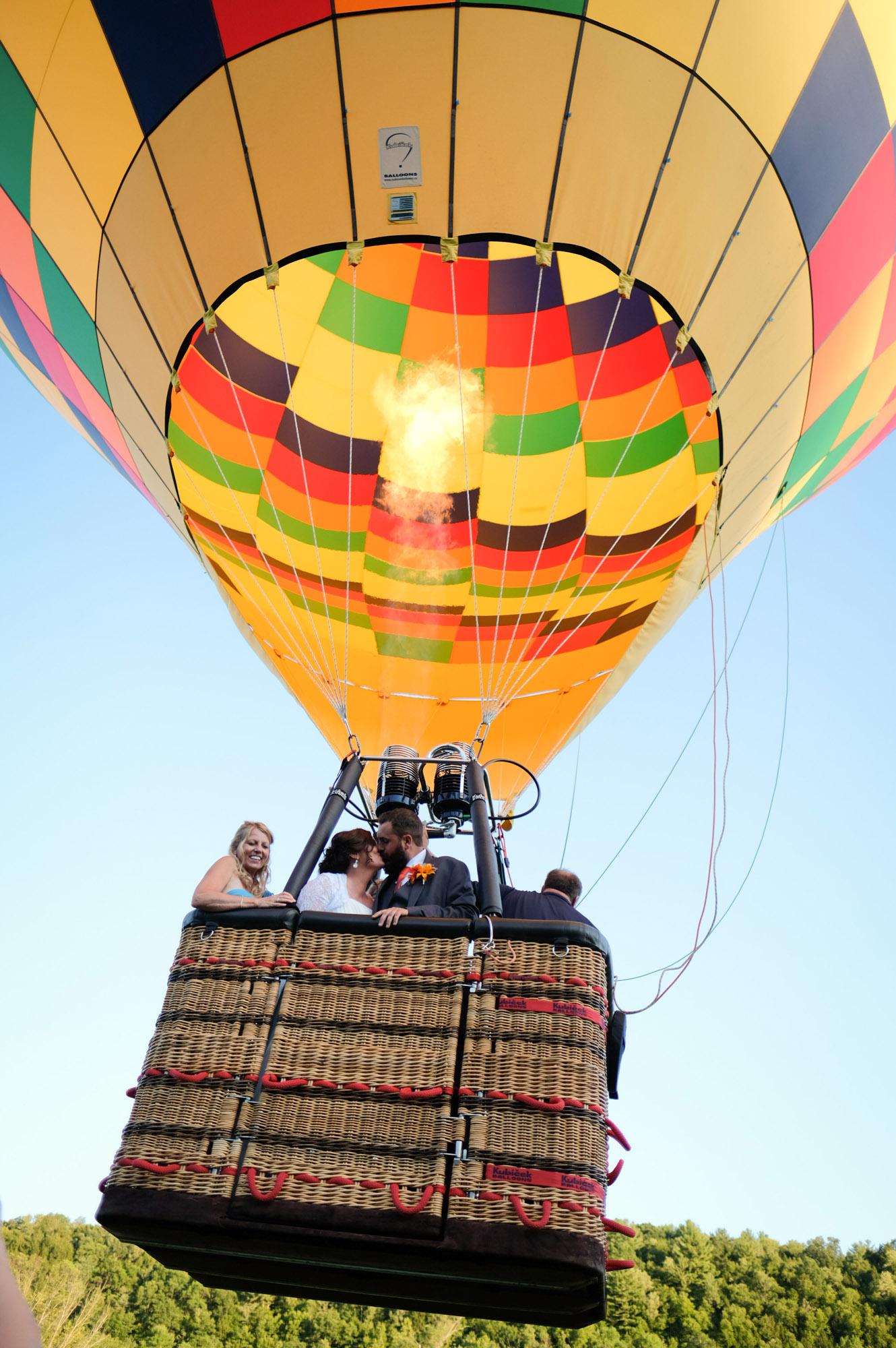 Shawn & Danielle Hot Air Balloon Wedding 35